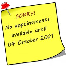 No appointments Post-it